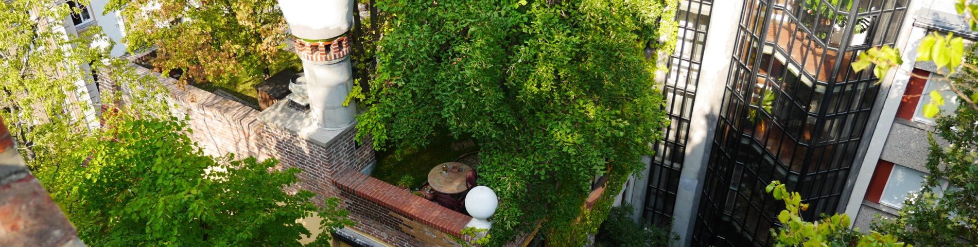 Dachgärten auf mehreren Ebenen
