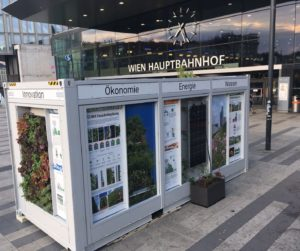 MUGLI begrünter Container am Hauptbahnhof