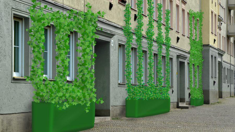 Grünfassadenmodul (c) tatwort - Jakob Hubmann