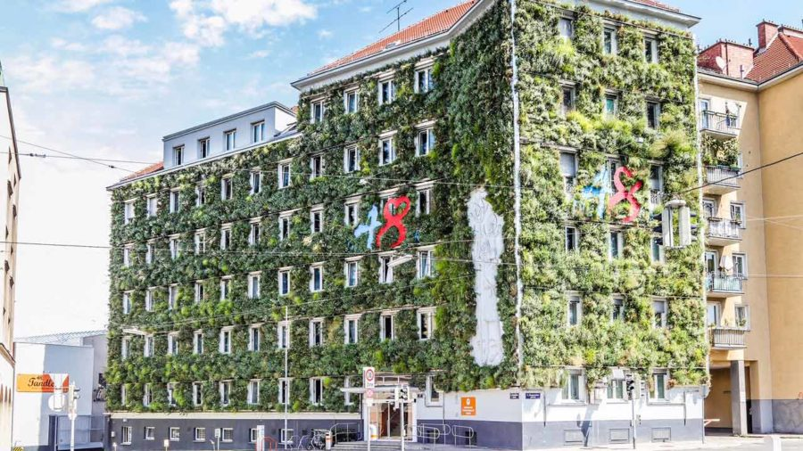 Fassadenbewässerung MA48 in Wien Planung und Ausführung