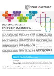thumbnail of Einladung 9. Smart City Salzburg Round Table Brunch