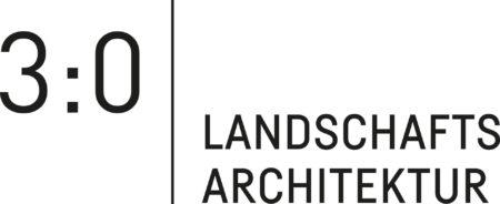 Logo 3:0 Landschaftsarchitektur Gachowetz-Luger-Zimmermann OG