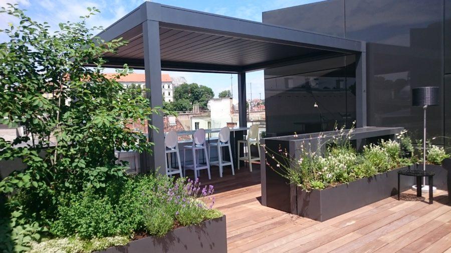 Privater Dachgarten in Innenstadt