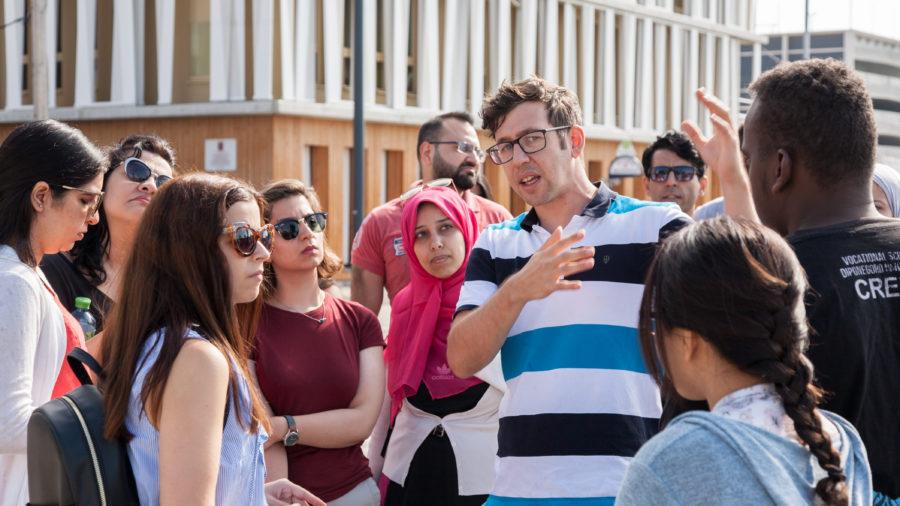 Exkursion der GBS Summer University in der Seestadt Aspern - @OeAD-WV, N. Hainfellner