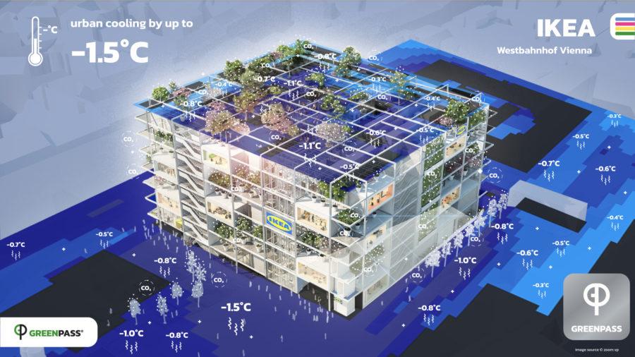 Kühlung durch Bauwerksbegrünung © GREENPASS