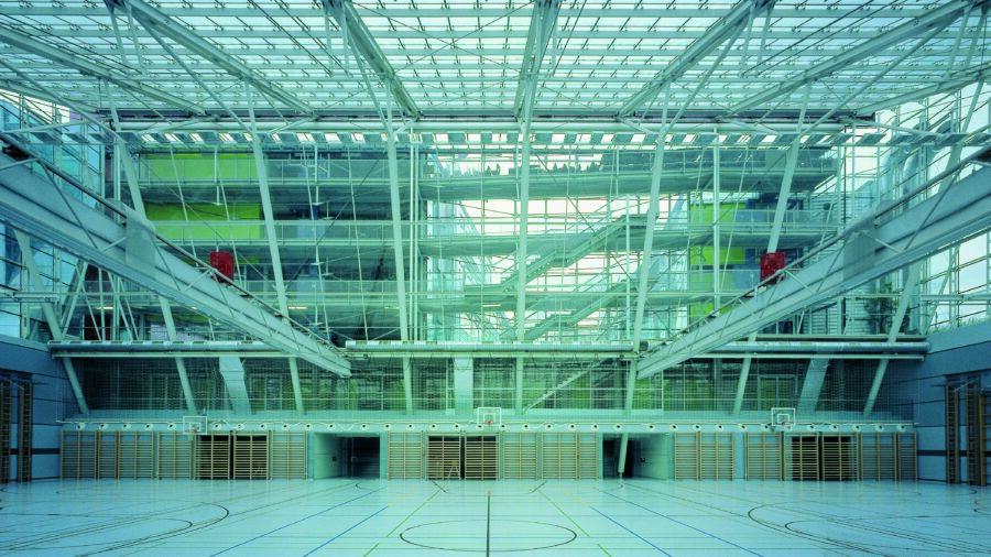 Demo-Gebäude Schule am Kinkplatz - Turnhalle © Rupert Steiner